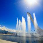 Олимпийский Парк. Фонтаны у Чаши Олимпийского огня.