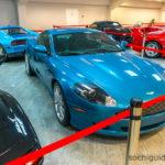 """""""Сочи Автодром"""". Музей. Выставочный экспонат - настоящий Aston Martin DB9."""