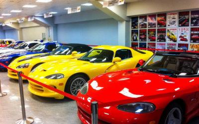 """""""Сочи Автодром"""". Музей. Выставочные экспонаты - настоящие Dodge Viper."""