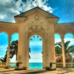 Абхазия. Гагра. Колоннада у моря.