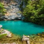 Голубое озеро. Рицинский парк.
